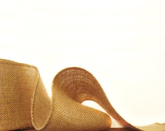 Burlap Ribbon - Premium Weave - Craft Supplies - Wedding / Event Supplies