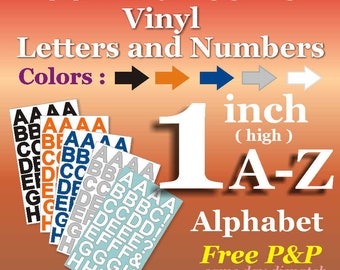 1 inch Letters <Aphabet > Vinyl Letters > Sunny Sticker