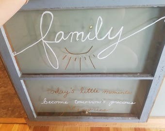 Antique Window with Family Quote