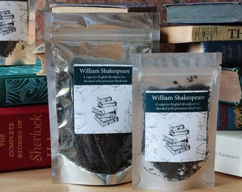 William Shakespeare Inspired Tea - Playwright - Tea Gift - Literary Gift - Bookish Gift - Author Gift - Tea -