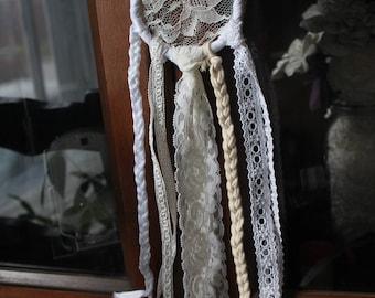 dreamcatcher shabby chic white neutral bridal shower baby shower wedding mothers day gift