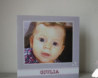 Make girl Photo birth announcement
