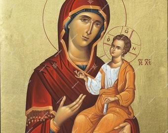 Virgin Mary | Byzantine Christian Orthodox Icon on Wood