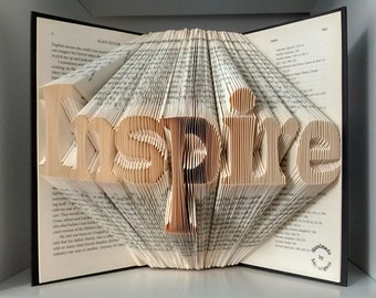 Inspire-original folded book art-unique gift-real folding without using any patterns-true art