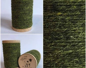 Rustic Moire Wool Thread #407 for Embroidery, Wool Applique and Punch Needle Embroidery