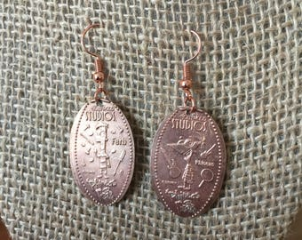 Walt Disney World Phineas and Ferb Pressed Penny Earrings