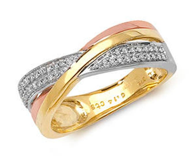 Diamond 3 Colour Ring CROSSOVER 3COL