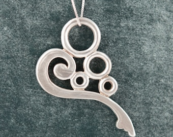 Architectural Heart Necklace in Sterling - Park Slope, Brooklyn Brownstone Detail - Large, Original design, Heart Pendant