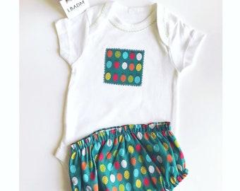 Conjunto bebe. cubrepañal bebe. Baby clothes. Culotte bebe. cubrepañales. handmade baby clothes. Baby panty Étoiles. body bebe. ropa bebe