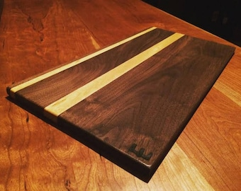 Serving Board! Black Walnut & exotic wood