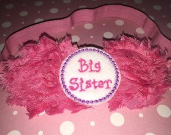 BIG SISTER headband, Big Sister Gift, Big Sister acessesories, baby headband-Big Sister Gift-