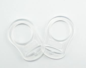 Silicone pacifier ring adapter