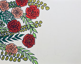 Floral background for custom quote