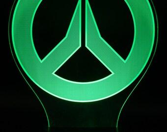 Overwatch Emblem LED Light Display