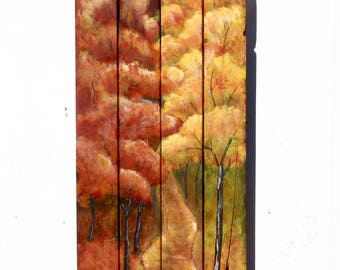 FALL TREE PAINTING,Fall Tree Wall Decor,Fall Tree Wall Art,Fall Decoration,Fall Wall Decor,Fall Decor,Fall Wall Art,Fall Art,Wood Wall Art