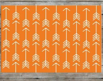Arrow Rug, Nursery Rug, Woodland Rug, Orange Rug, Modern, Kids Room