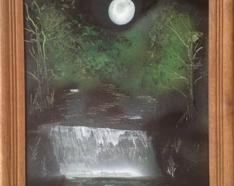 Painting 20 X 16 - full moon night