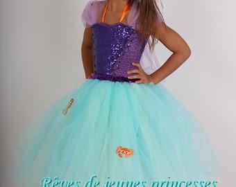 Princess tutu, dress, mermaid costume dress