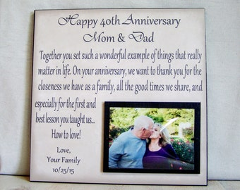 Anniversary gift for parents mom dad anniversary anniversary picture frame gift 40th anniversary 30th anniversary mom and dad anniversary gift for parents anniversary gift idea m4hsunfo