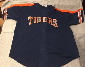 Vintage starter Detroit Tigers jersey baseball button up lions 90s 80s L large pistons D