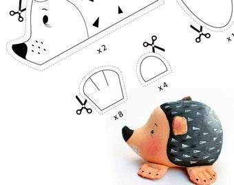 pattern PDF, hedgehog-pincushion, pattern INSTANT DOWNLOAD