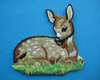Iron-on embroidered Patch Deer 2.4 inch