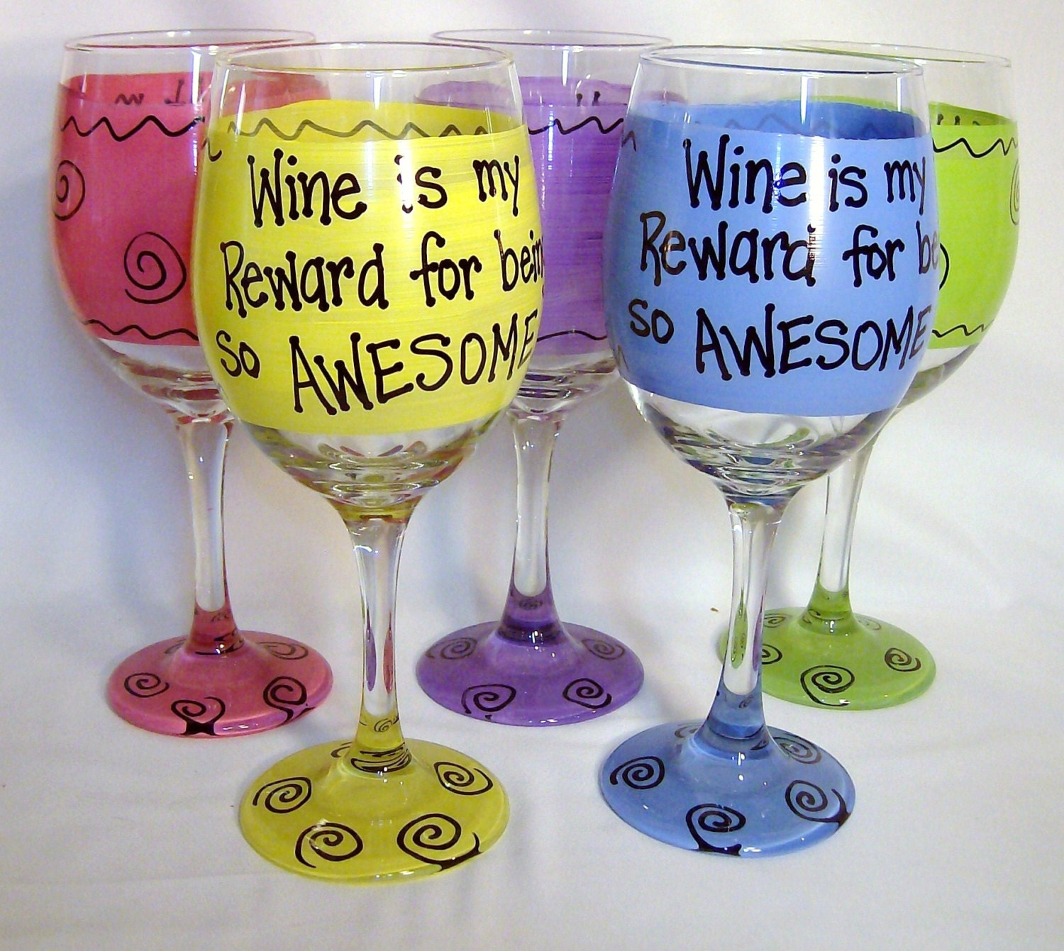 Wine Is My Reward For Being So Awesome Funny Wine Glass Gift