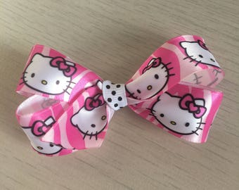 Hello kitty bow, silk ribbon bow