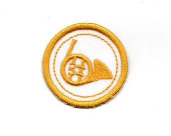 "2"" French Horn Merit Badge, Patch! Any Color combo! Custom Made!"