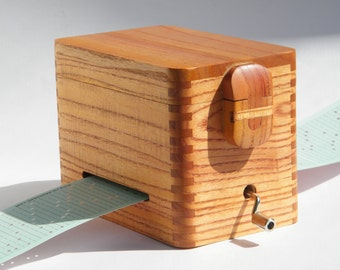wooden music box, custom music available, 30 note, free engraving,  valentine day