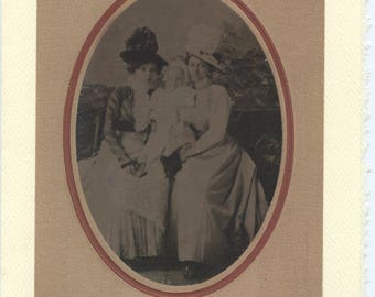 My Two Mothers: Vintage LGBTQ+ Card - lesbian Mother's Day card, two gay moms card, same sex parents, gay adoption card, lesbian tintype