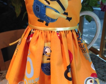 "Minion ""Beedo"" dress fits 18 inch dolls including American Girl Doll"
