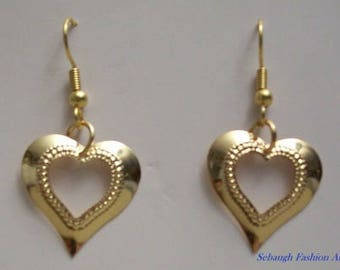 Open Heart Gold Filled Earrings,Jewelry,Earrings,Heart Earrings,Gifts,Gifts for Her, Gift Ideas,Dangle,Drop,Birthdays,Anniversary,Valentines