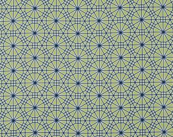 Joel Dewberry,Geometric Fabric,WEB Asparagus,BOTANIQUE,Free Spirit Fabric,By the Yard,Cotton Fabric,Quilting Fabric,Quilt Fabric,Web Fabric