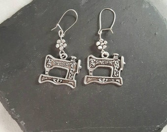 Sewing Machine Earrings - sewing gift - quilting gift - gift for a crafter - gift for a sewer -  gift for a quilter - sewing jewellery