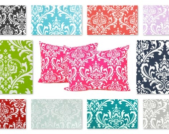 Pillow Shams, Bed Shams, Decorative Throw Pillow Covers, Full Bedding, Queen Bedding, King Bedding 19 x 25 Damask Bed Shams