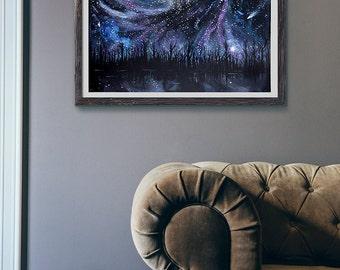 Giclée Art print - Galaxy Painting - galaxy art print - 11x14 print