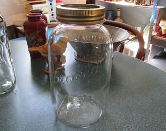 Vintage Large Improved Gem Mason Jar Made in Canada