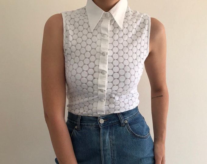 90s Vintage Poplin Detail Shirt