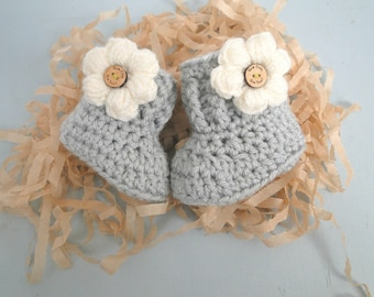 Baby Booties, Grandparent Pregnancy Reveal,  Baby Girl Reveal,  Daddy Reveal, 0-3 Months old, Baby Shower, Baby Gift, New Baby Gift,