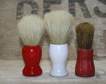 Vintage Shaving Brush - Mens Grooming - Set of Three