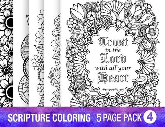 5 Bible Verse Coloring Pages Inspirational Quotes Original