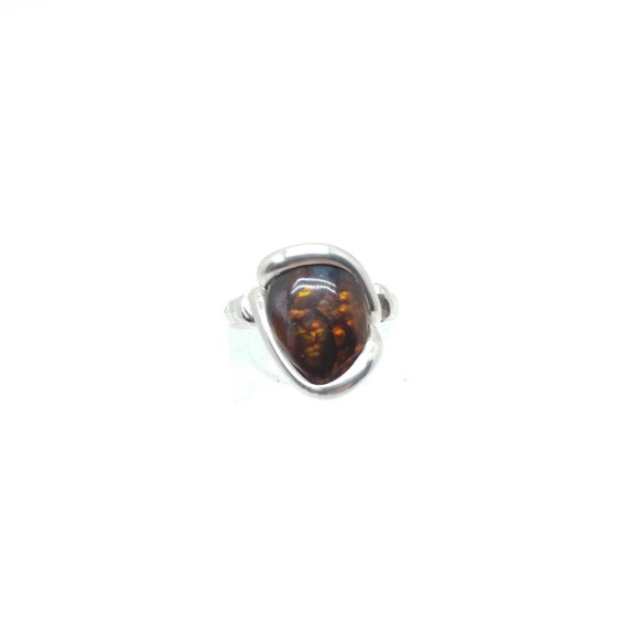 Red Stone Ring | Mexican Fire Agate Ring | Sterling Silver Ring Sz 6 | Fire Agate Jewelry | Rare Gemstone Ring | Gift for Girlfriend