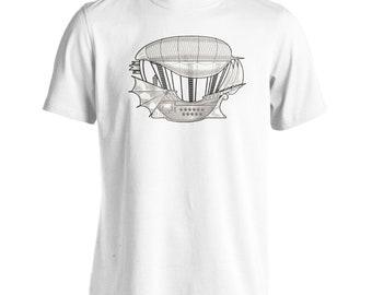Steampunk Fly Pilot Art Men's T-Shirt Tee o507m