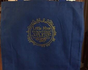 Pretty Bling Little Miss Sunshine Tote Bag