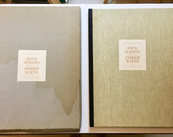 Vintage set of Prints, Four Seasons: 12 Reproductions (Hardcover) by Andrew Wyeth (Painter), Lloyd Goodrich (Introduction) Lithograph Prints