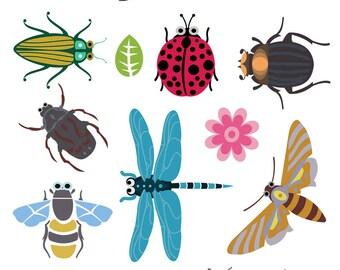 Bug Clip Art, Insect Clip Art, Bee Clip Art, Dragonfly Clip Art, Ladybug Clip Art, Beetle Clip Art, Moth Clip Art, Instant Download