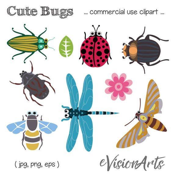bug clip art insect clip art bee clip art dragonfly clip rh etsy com clip art bugs bunny clip art bugs insects