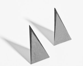 tall triangle earrings