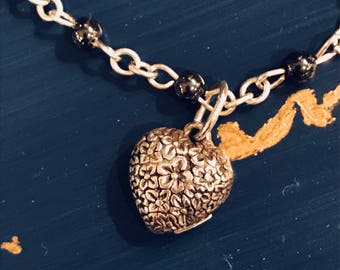 Floral Inscribed HeArt Necklace